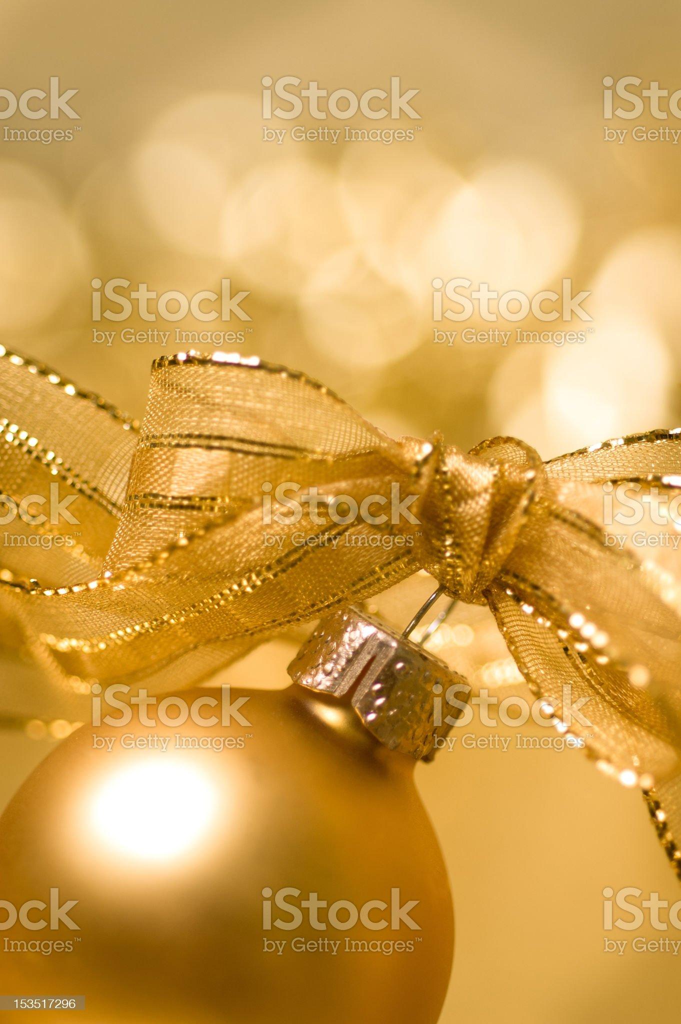 Golden Christmas decoration royalty-free stock photo