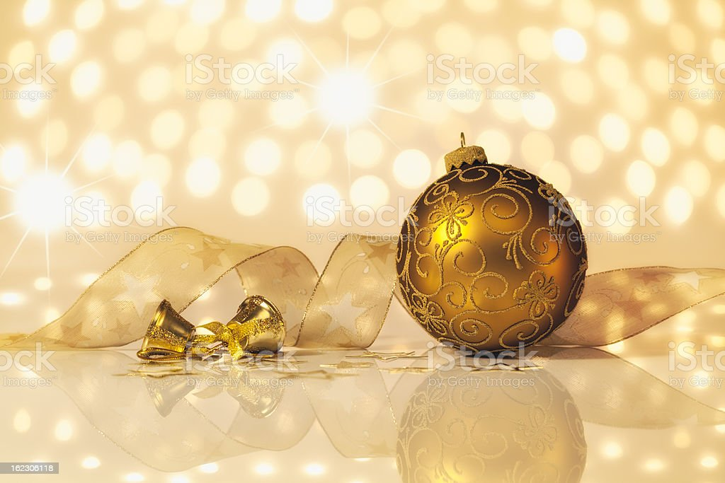 Golden Christmas Decoration royalty-free stock photo