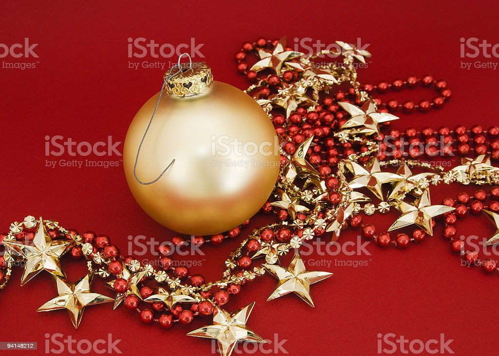 Golden Christmas Ornament stock photo