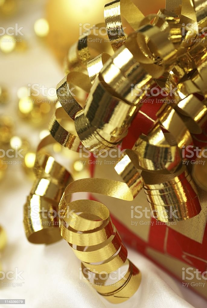 Golden christmas stock photo