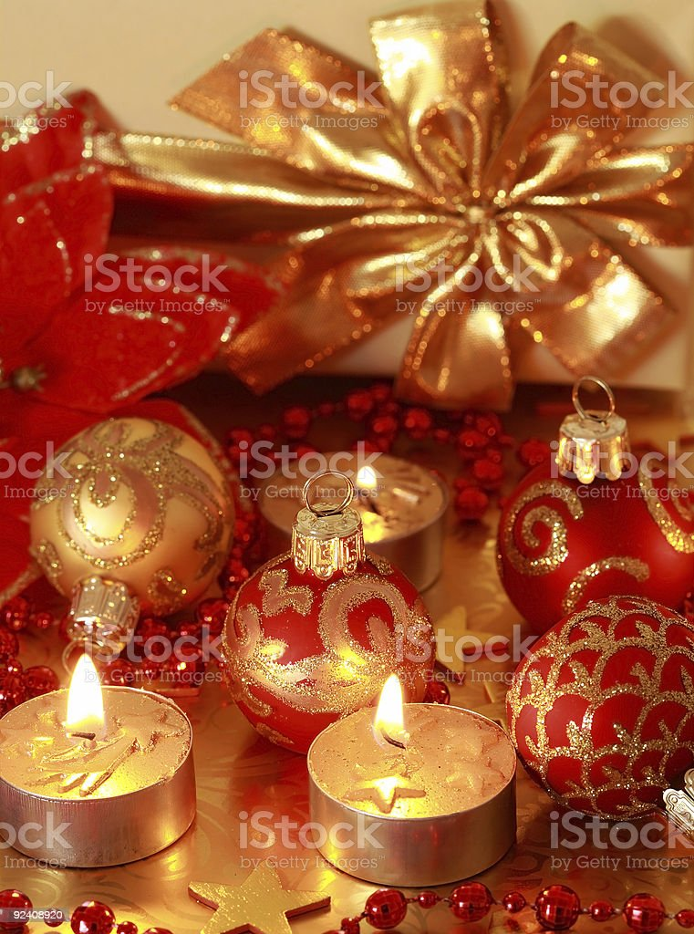 Golden Christmas royalty-free stock photo