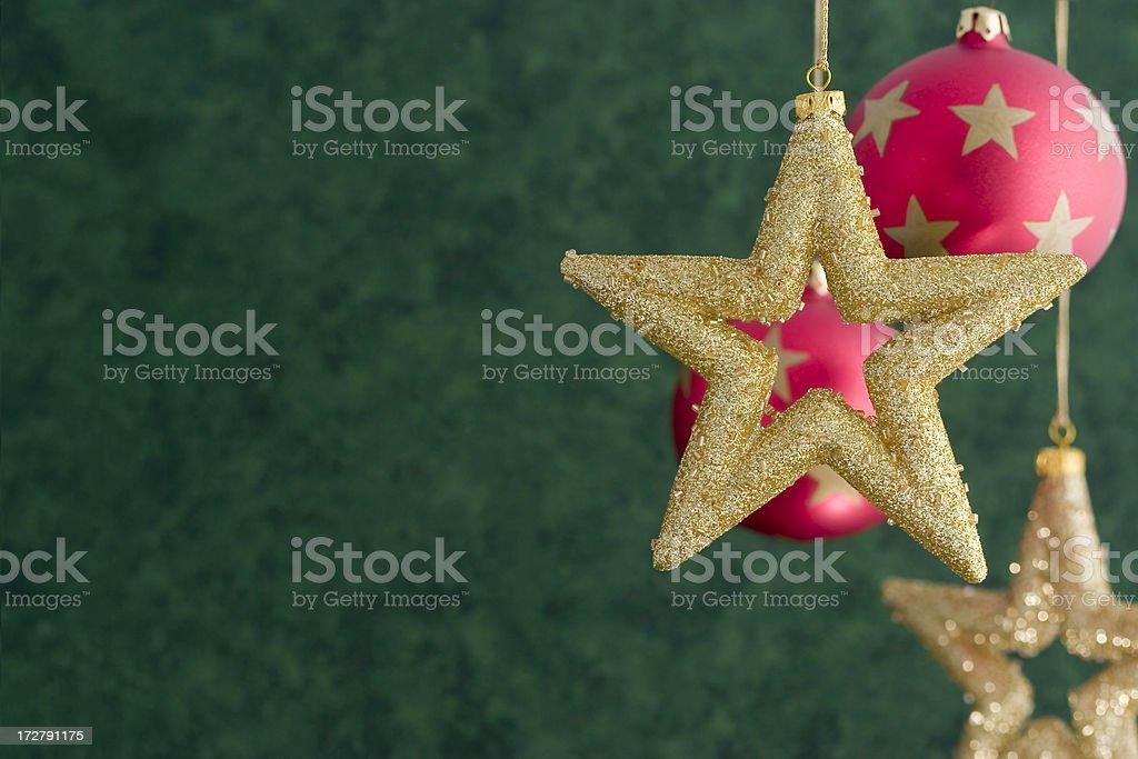 Golden Christmas Stars stock photo