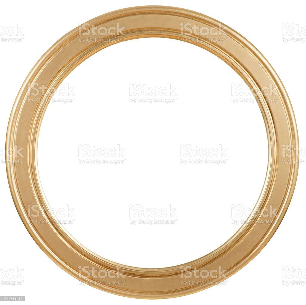 Golden Circular Frame stock photo