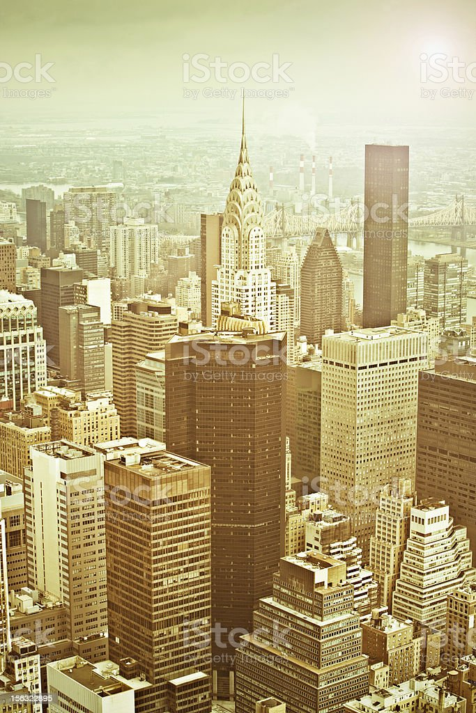 Golden city stock photo
