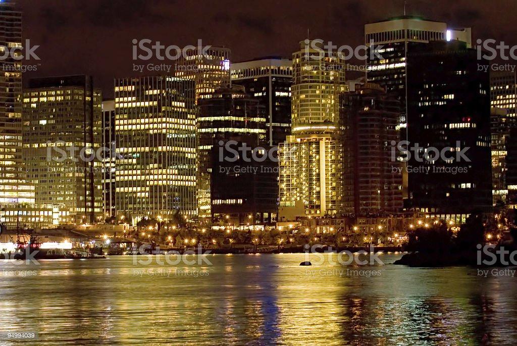 Golden city stock photo