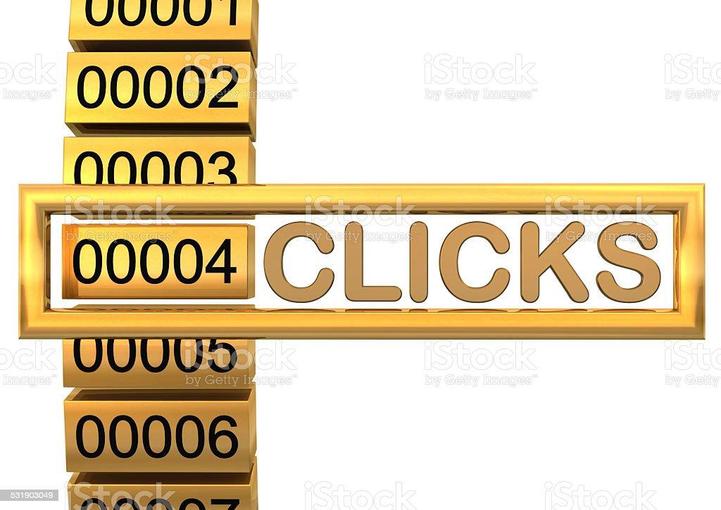 Golden Clicks stock photo