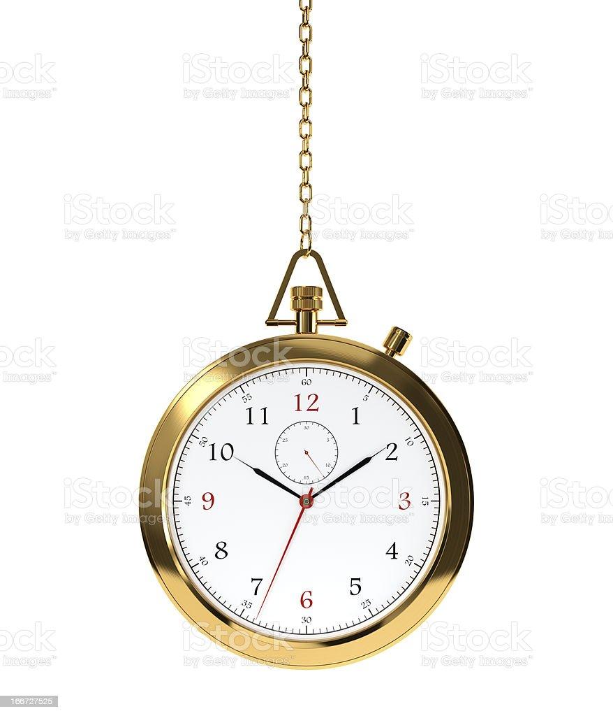 Golden clock royalty-free stock photo