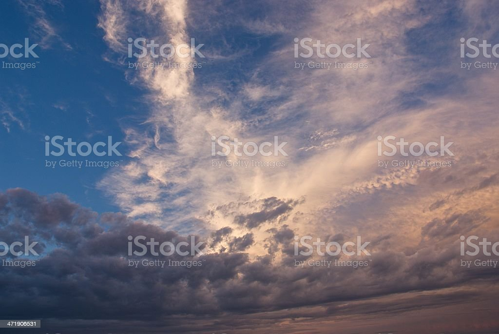 golden cloud at sunset royalty-free stock photo