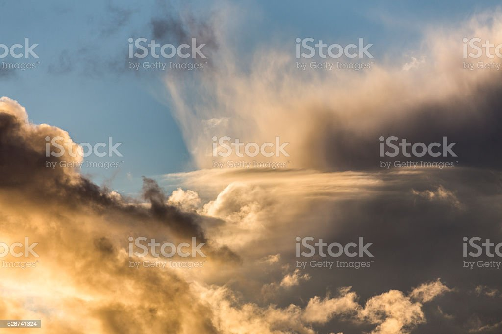 Golden clouds stock photo