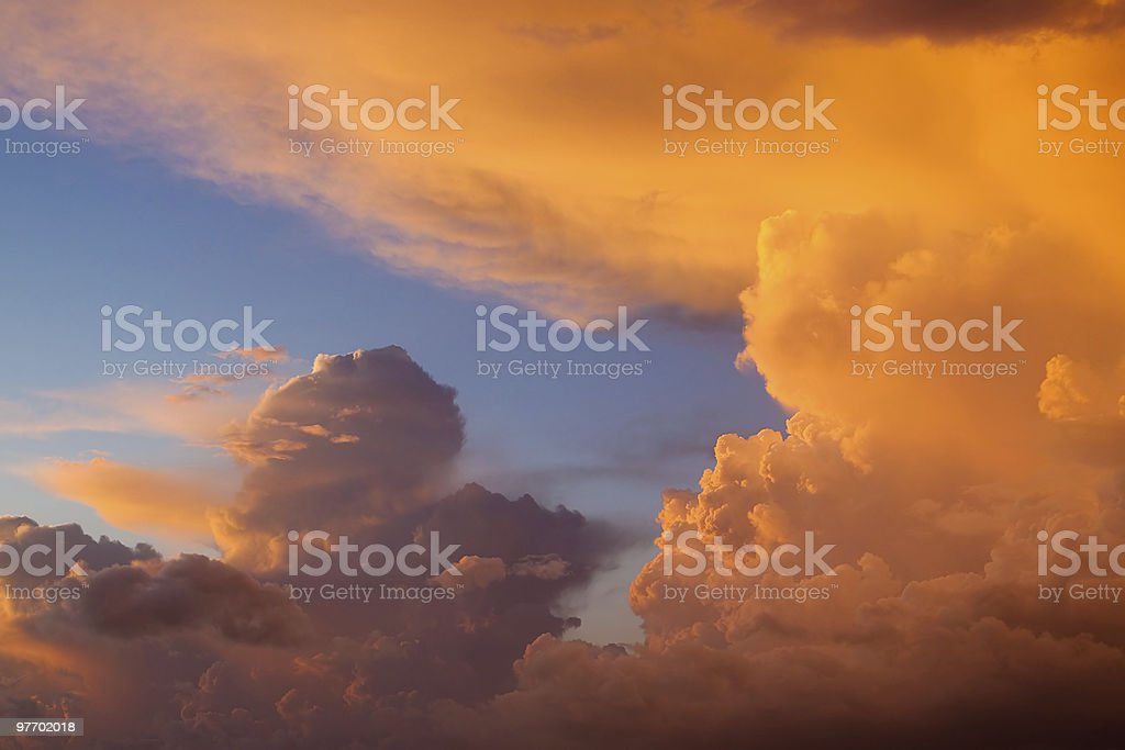 Golden clouds royalty-free stock photo