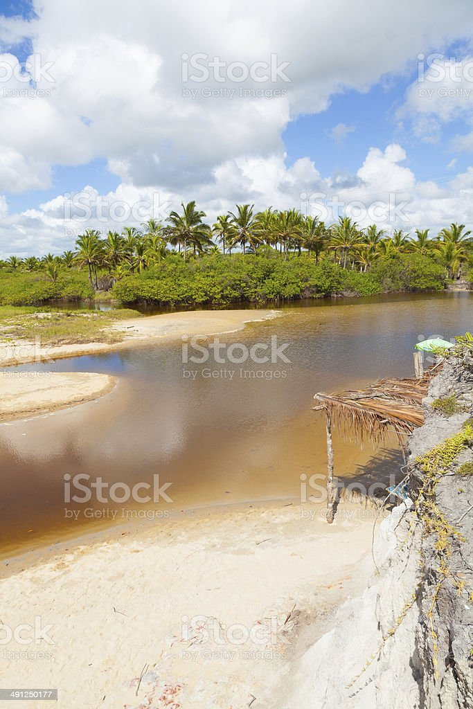 Golden coast,Costa Dourada,Espirito Santo Bahia Brazil royalty-free stock photo