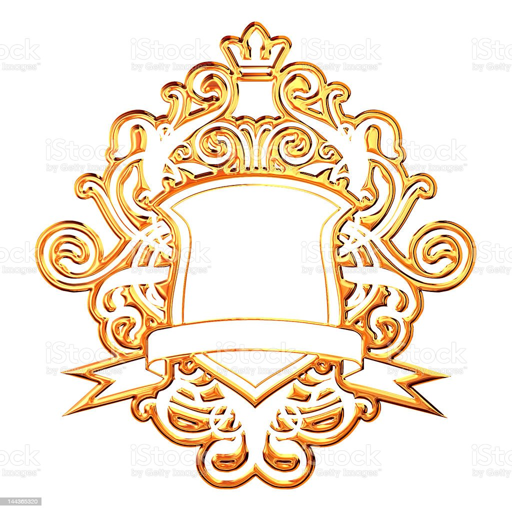 Golden Coat Of Arms stock photo