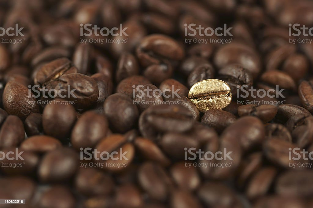 Golden Coffee Bean stock photo