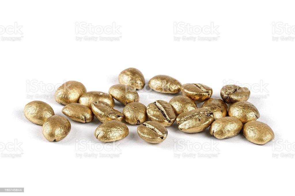Golden Coffee Beans stock photo