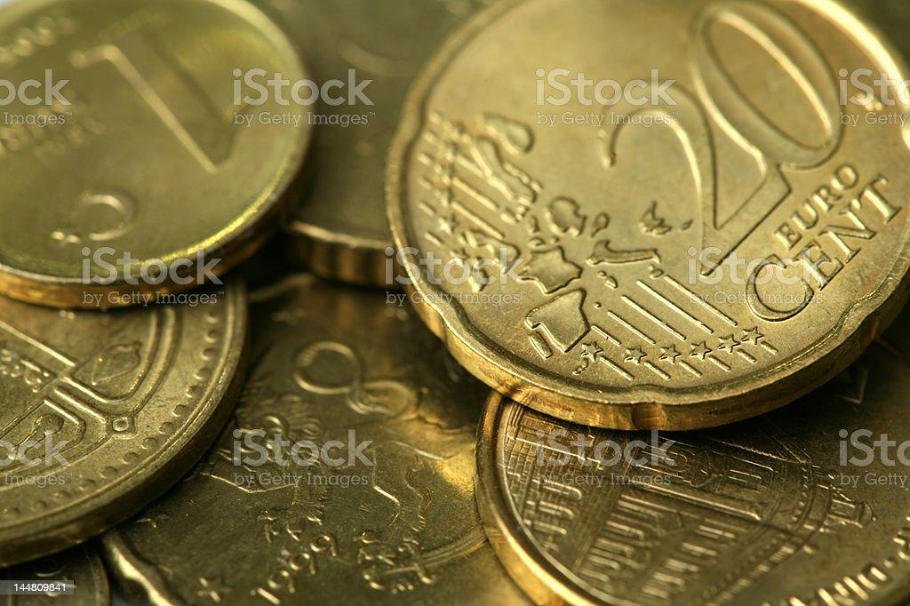 Golden Coins Texture stock photo