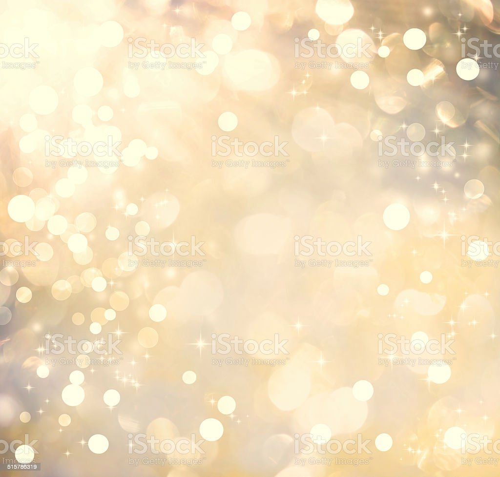 Golden colored abstract shiny light background vector art illustration