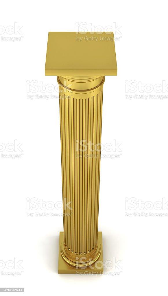 Golden column royalty-free stock photo