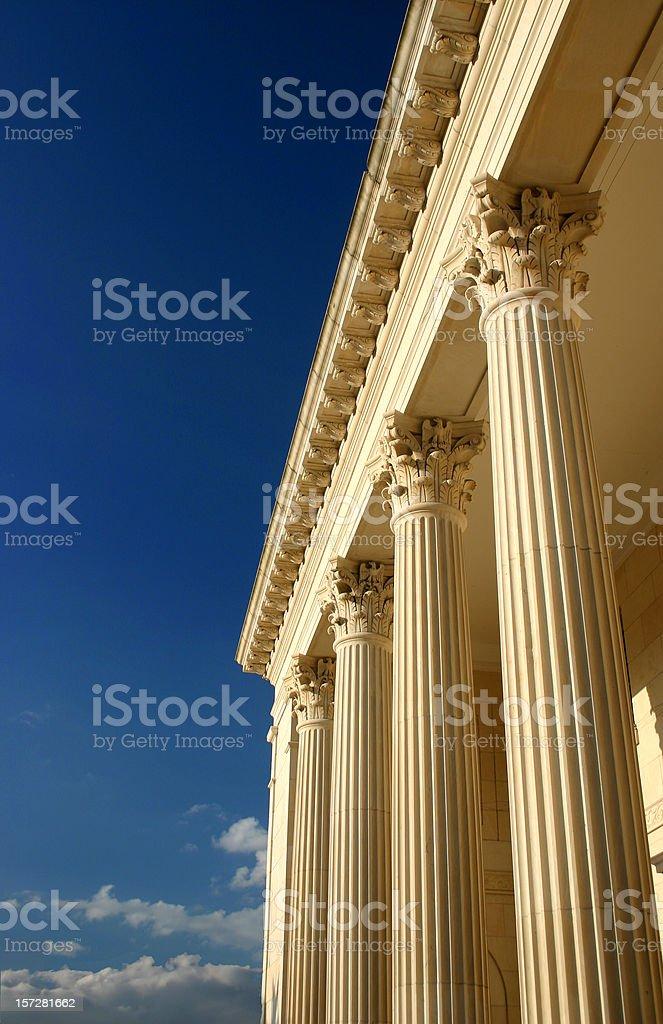 Golden Columns, Blue Sky royalty-free stock photo
