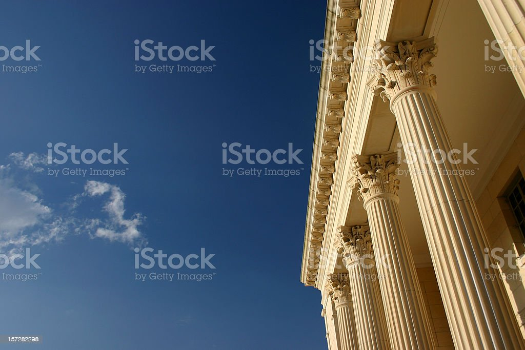 Golden Columns, Blue Sky royalty-free stock photo