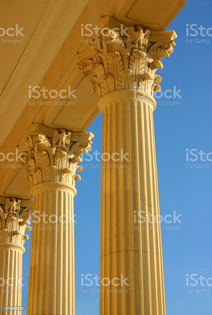 Golden Columns royalty-free stock photo