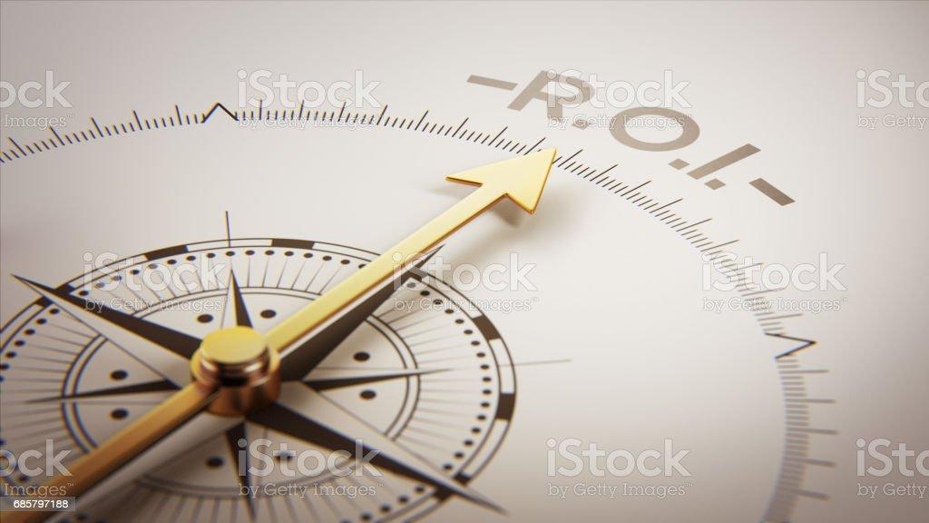Golden Compass Concept stock photo