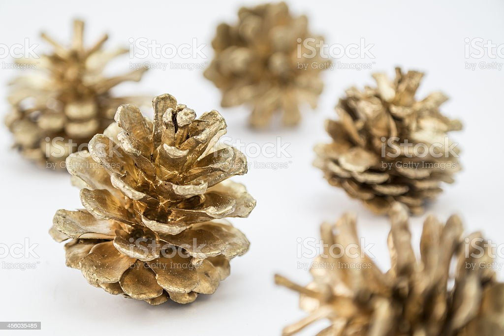 Golden cones royalty-free stock photo