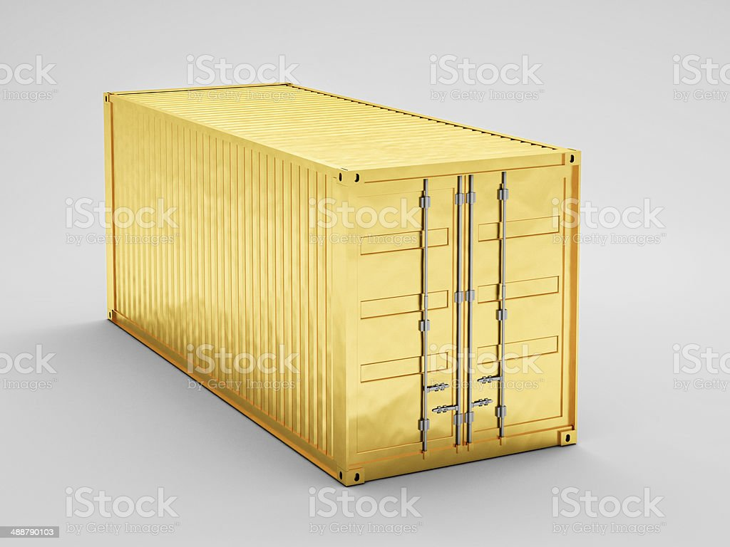 golden container stock photo