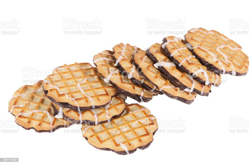 golden  cookies stock photo