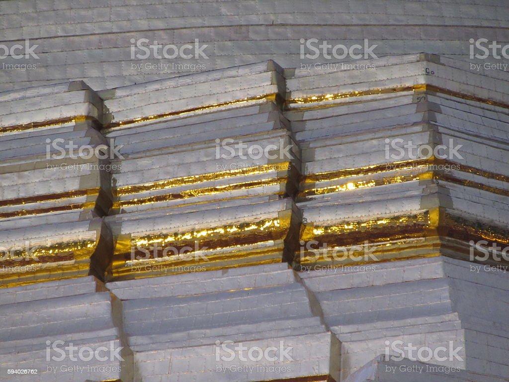 Golden Corner of Shewedagon Pagoda, Yangon, Myanmar stock photo