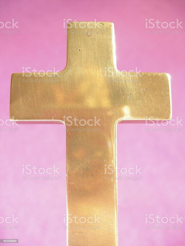 golden cross royalty-free stock photo