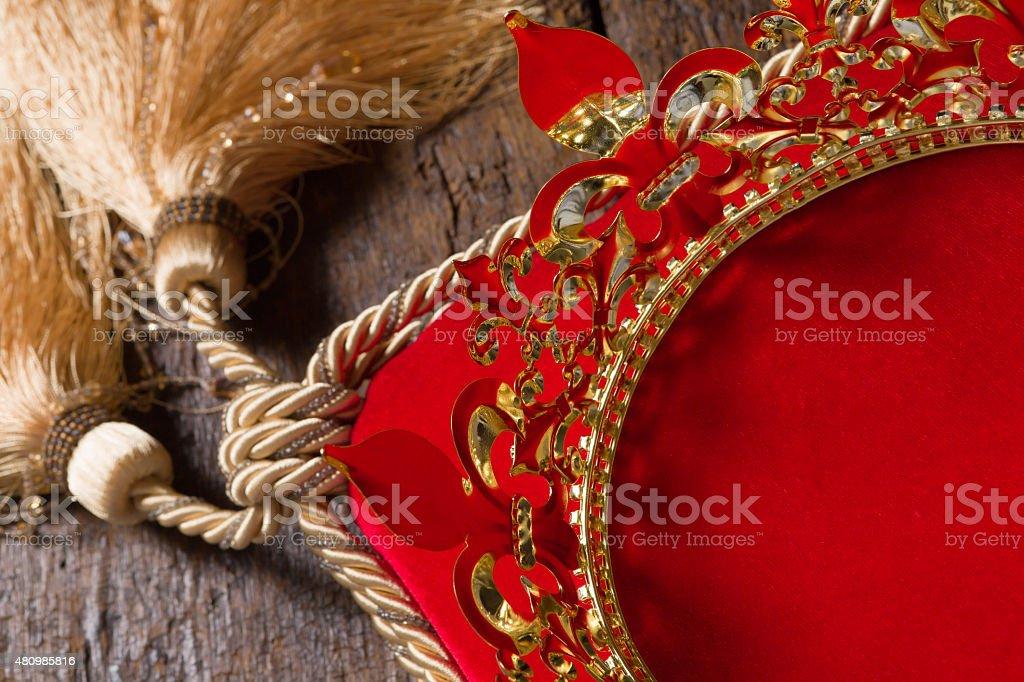 Golden crown closeup stock photo