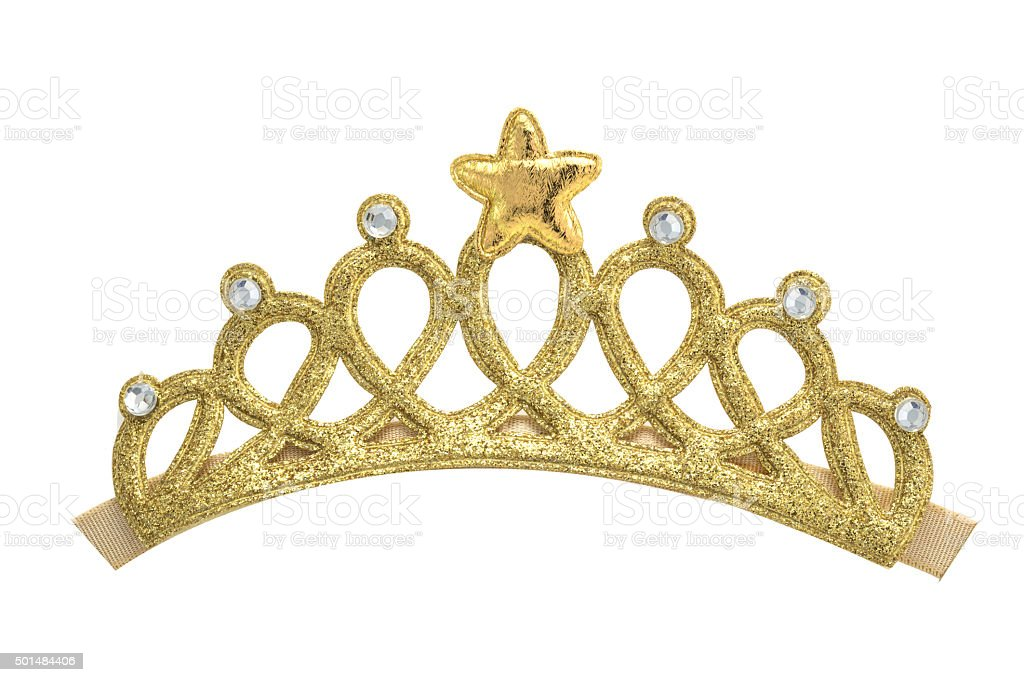 Golden Crown models stock photo