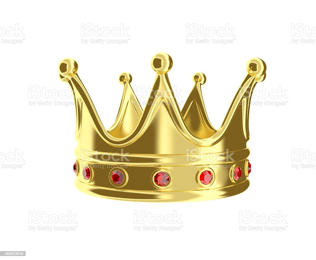Golden crown. royalty-free stock photo