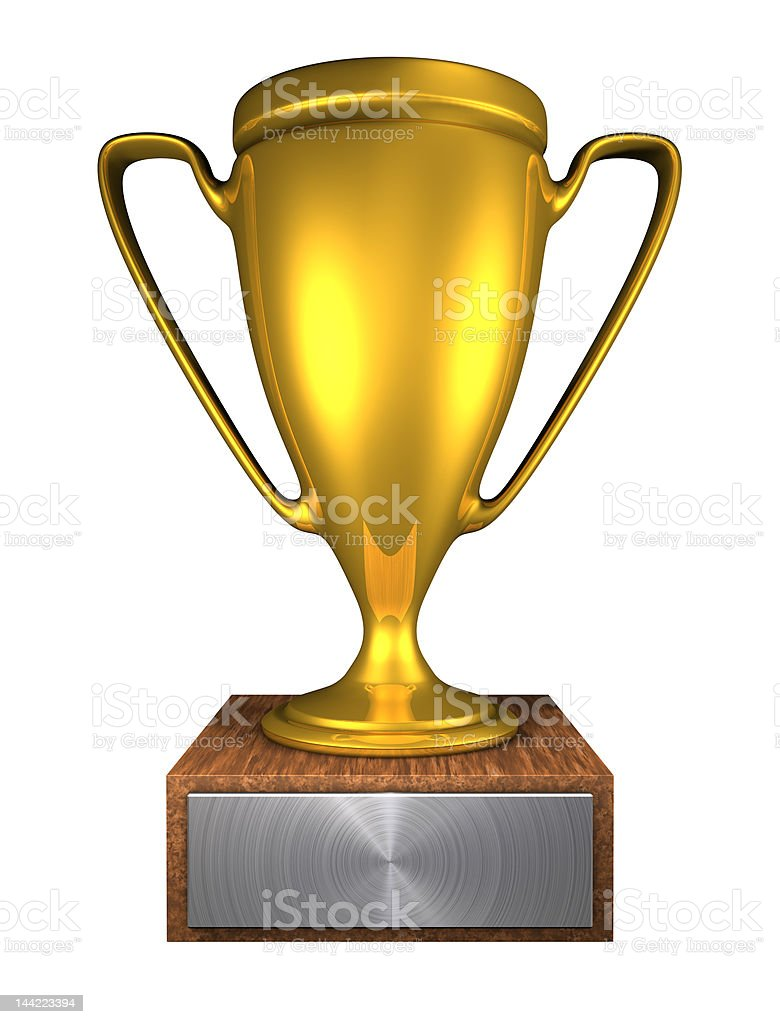 golden cup b royalty-free stock photo