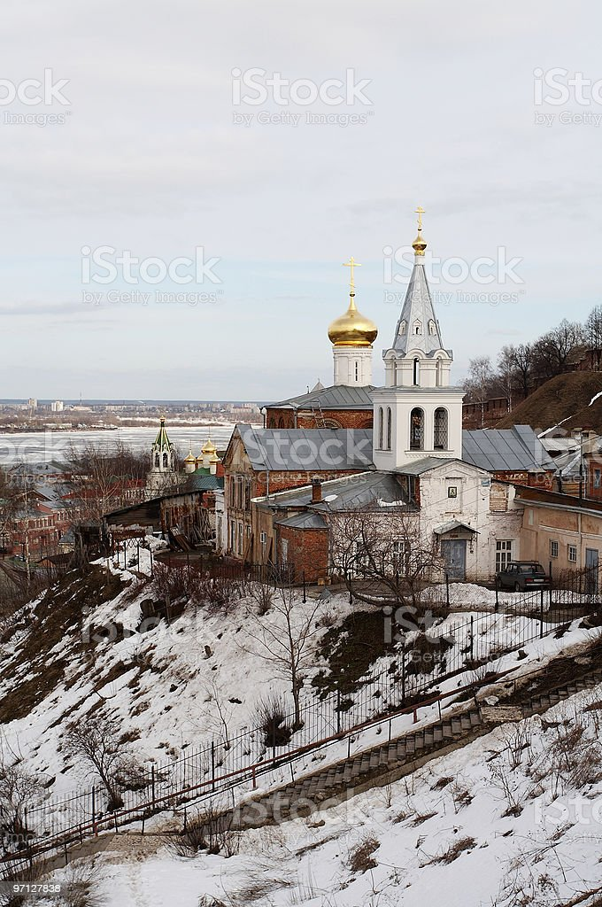 Golden cupola stock photo