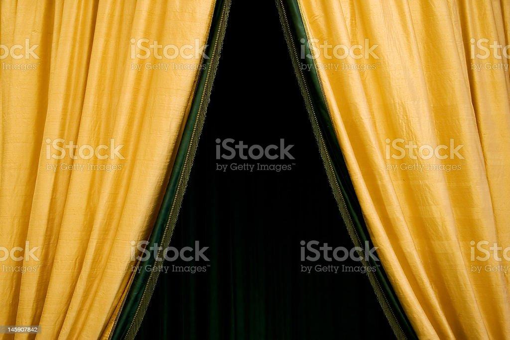 Golden Curtain royalty-free stock photo