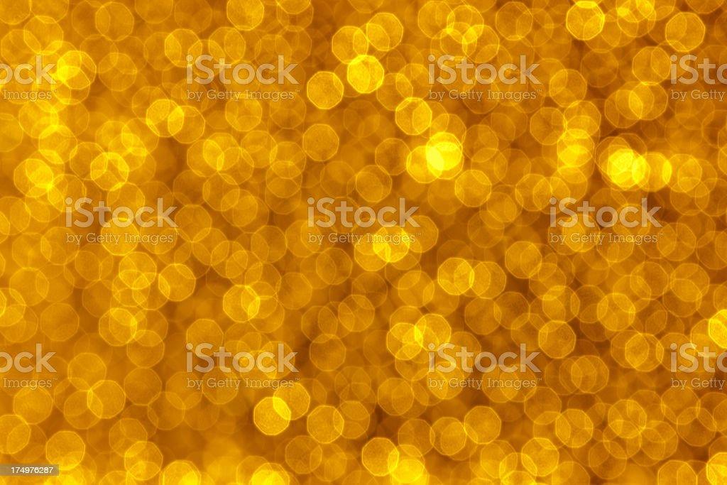 Golden Defocused Lights Background stock photo