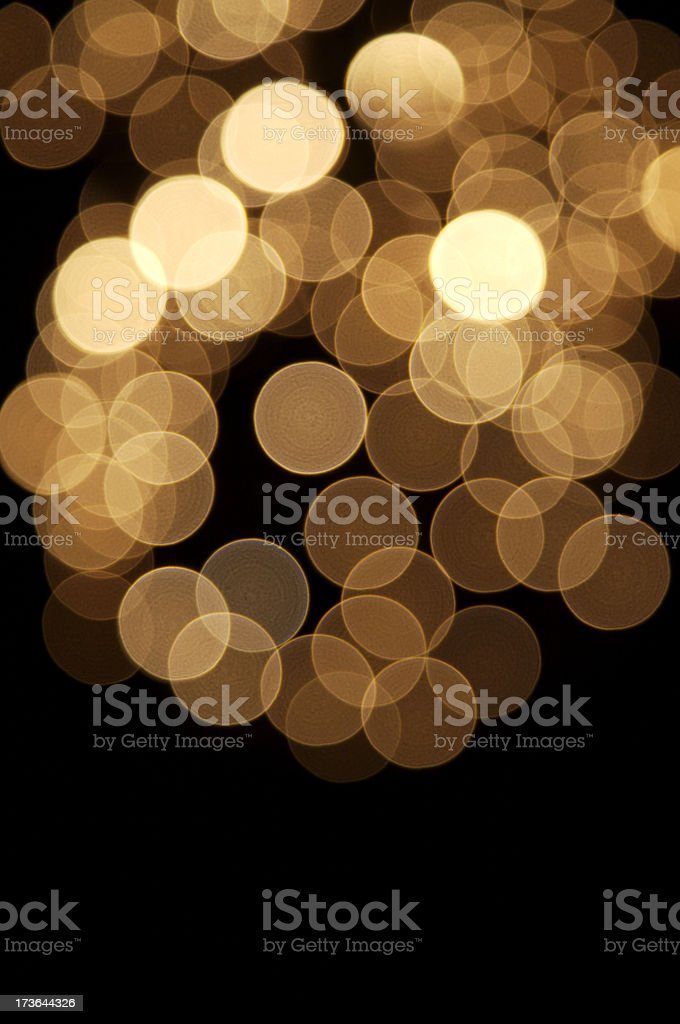 Golden defocused lights royalty-free stock photo