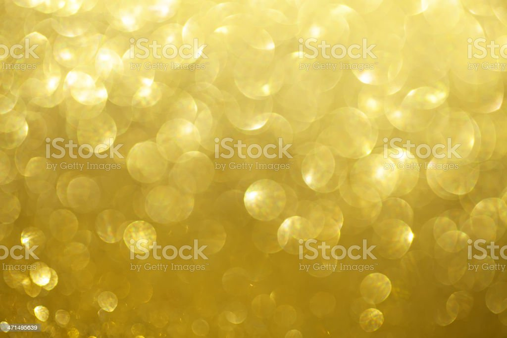 Golden Defocused Lights royalty-free stock photo