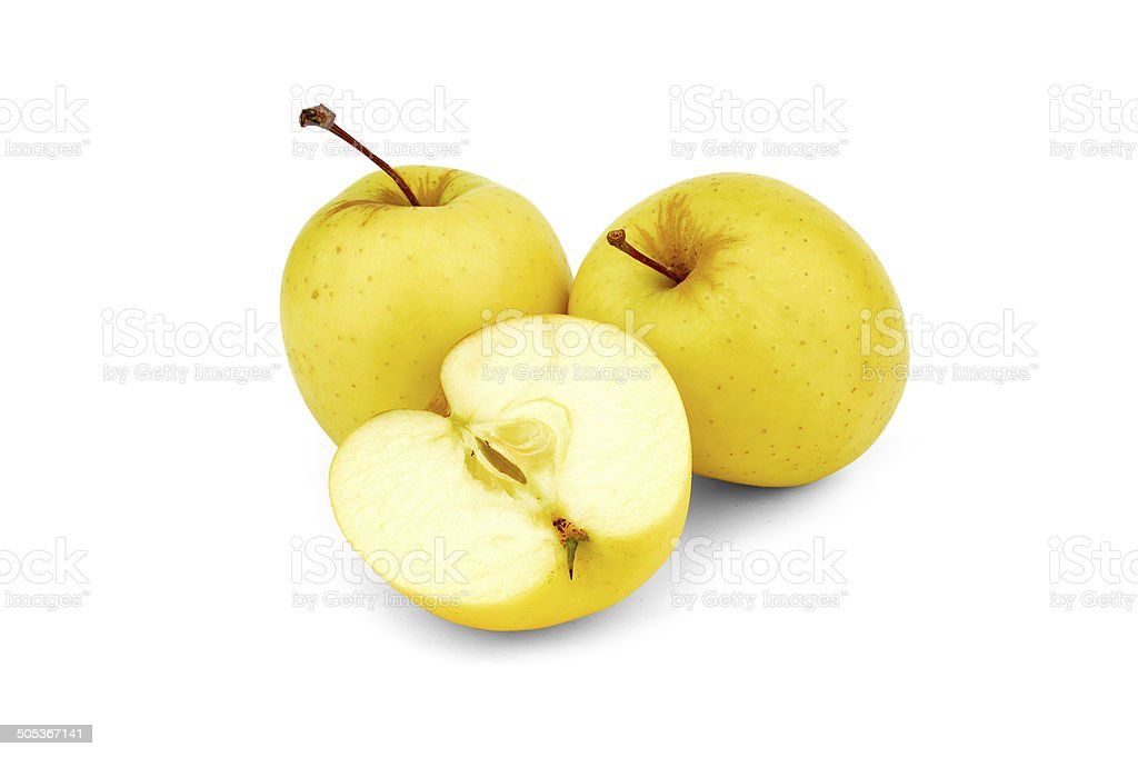 Golden Delicious Apples - Stock Image stock photo