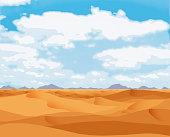 Golden Desert Flat Landscape