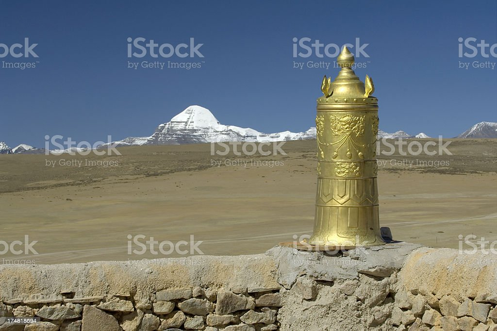 Golden Dharma Cylinder stock photo
