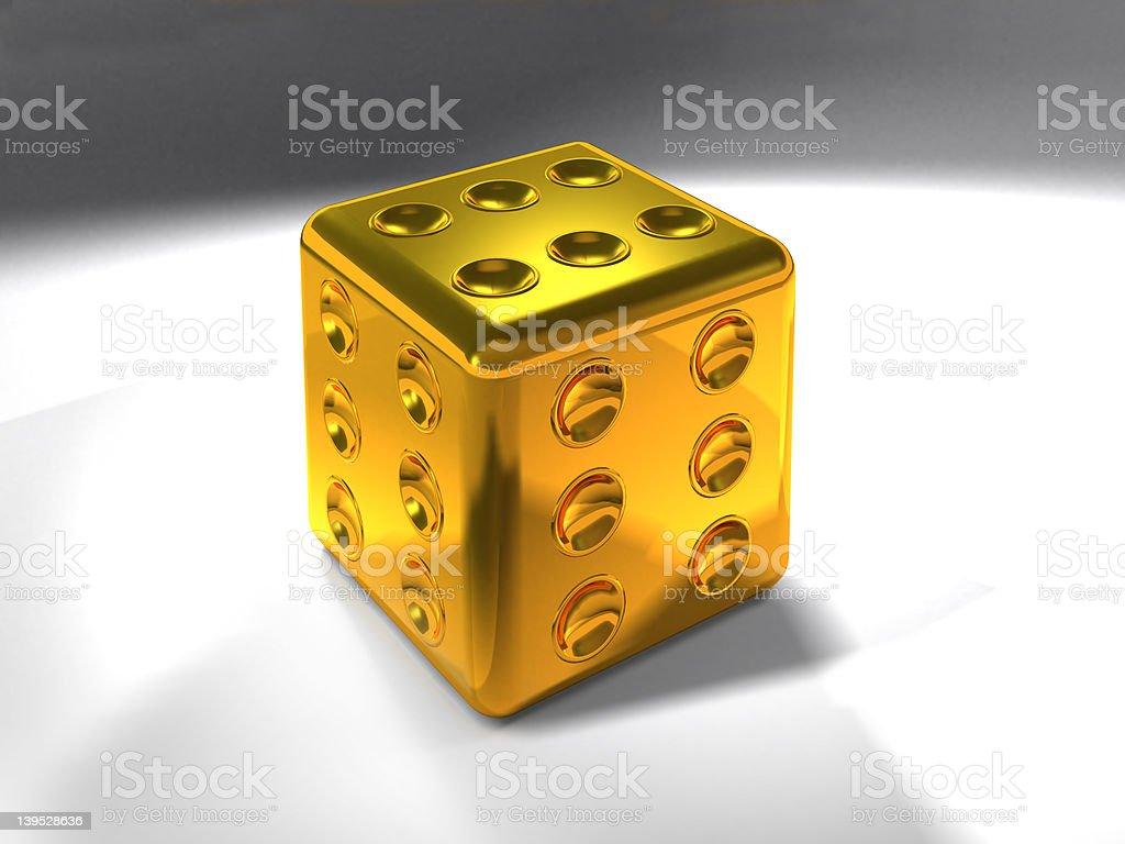 Golden Die XXLarge royalty-free stock photo