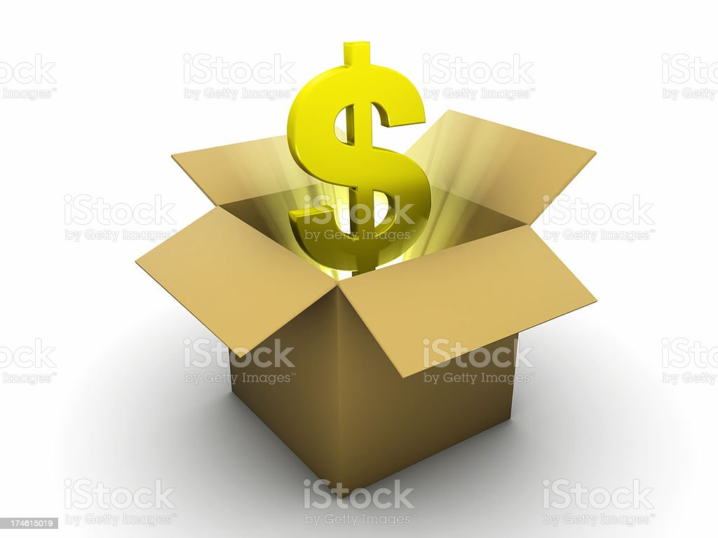 Golden Dollar stock photo