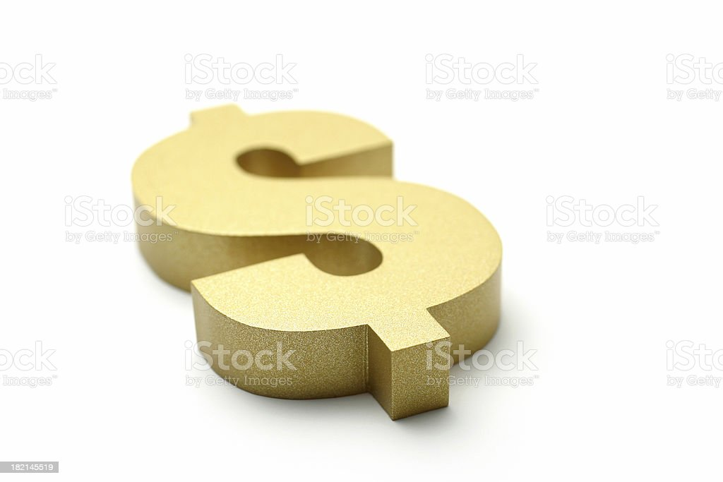 Golden Dollar Sign royalty-free stock photo