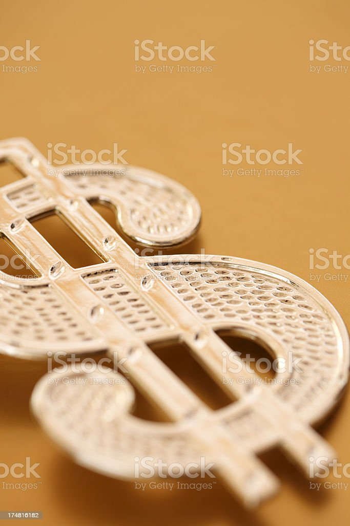 Golden Dollar Symbol royalty-free stock photo