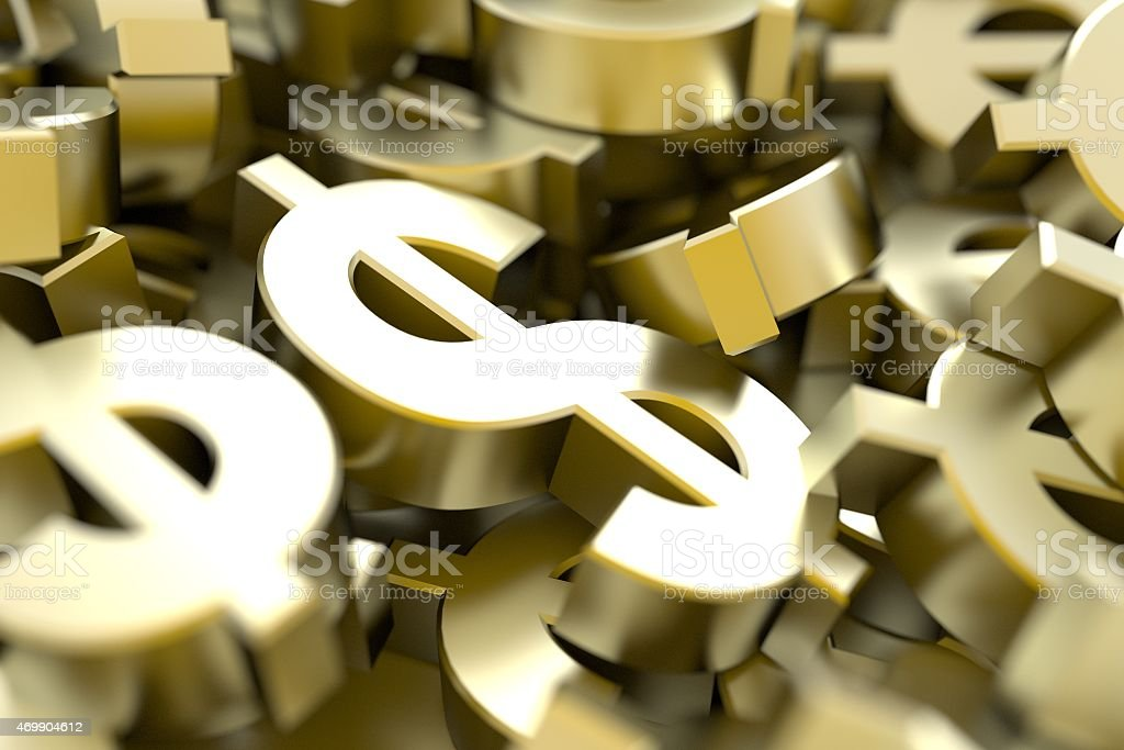 Golden Dollars stock photo