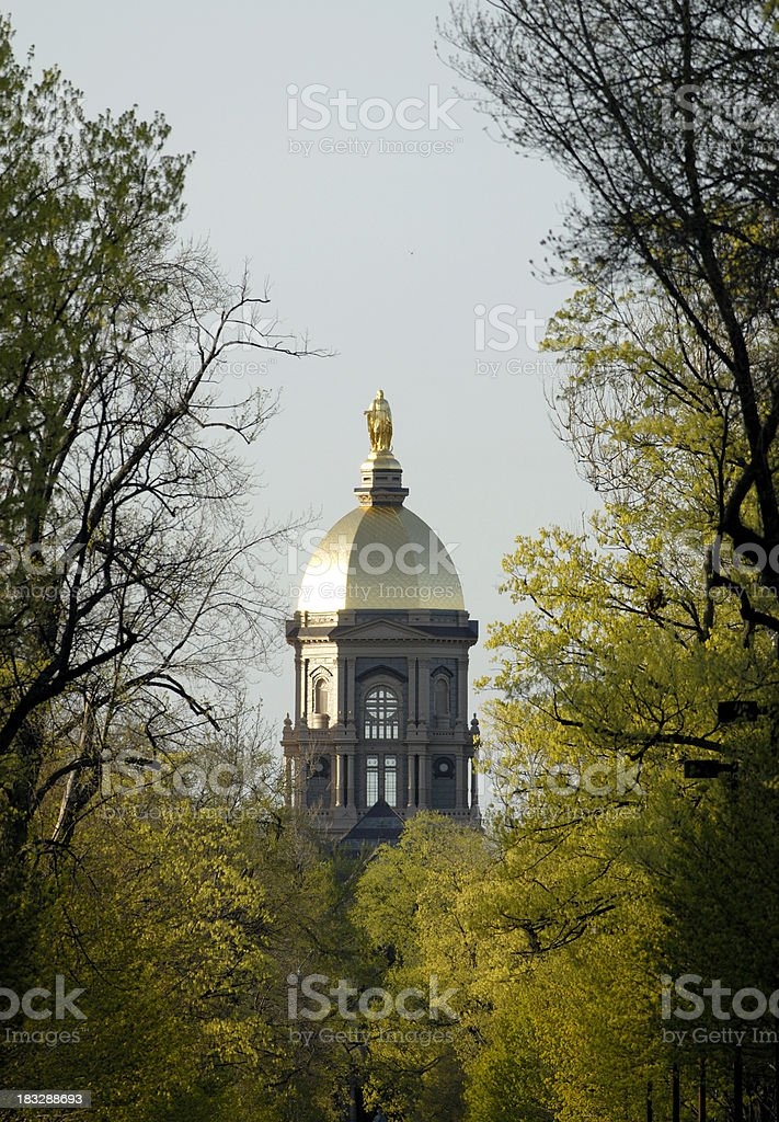 Golden Dome in spring stock photo