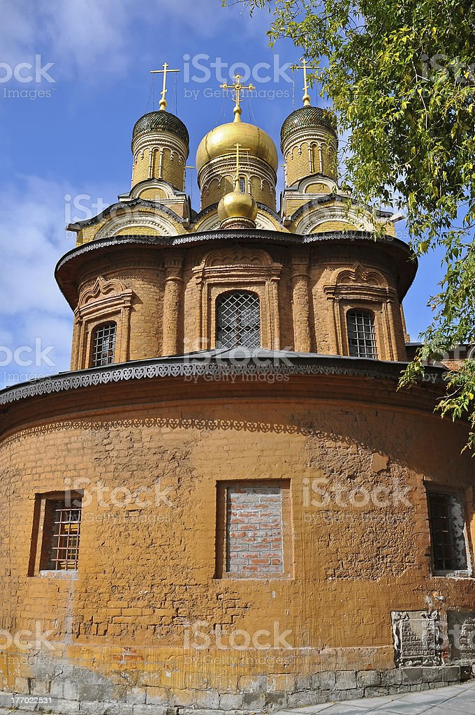 Golden Domed Church, Moscow royalty-free stock photo