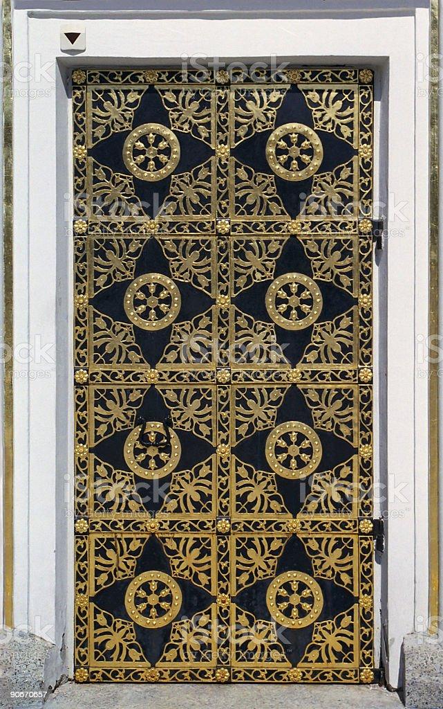 Golden door royalty-free stock photo